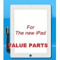 iPad 4 touch screen with adhesive tape [White]